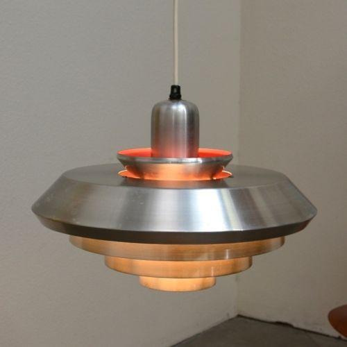 1960s danish modern ufo hanging lamp fixture mid century for Danish modern light fixtures