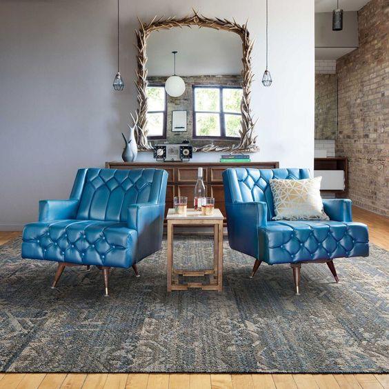 Myflor Living Room Remodel Carpet Tiles Blue Decor