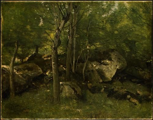 In the Forest of Fontainebleau - Camille Corot