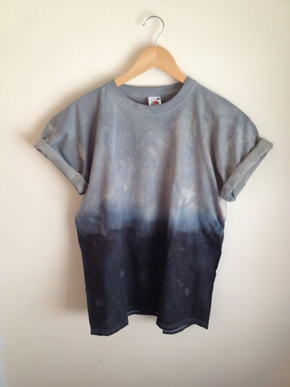 Dip Dye Tie Dye TShirt Unisex Grey and by JessicaIrwinClothing, £10.00