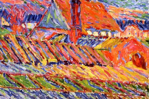 """Karl Schmidt-Rottluffs leuchtende """"Gärtnerei"""", entstanden 1906, Öl auf Pappe"""
