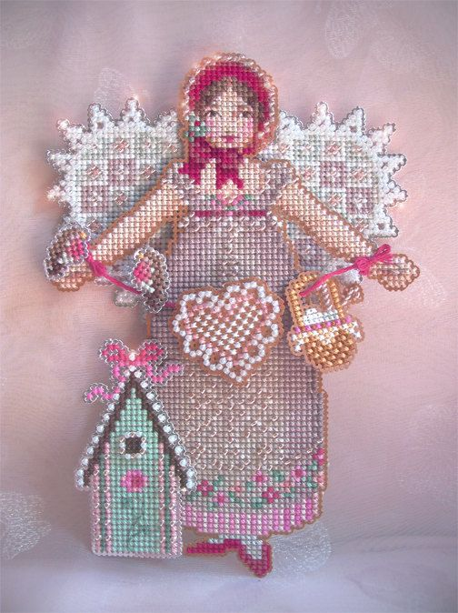 Brooke's Books Spirit of Crochet Angel Ornament Cross Stitch Chart Only