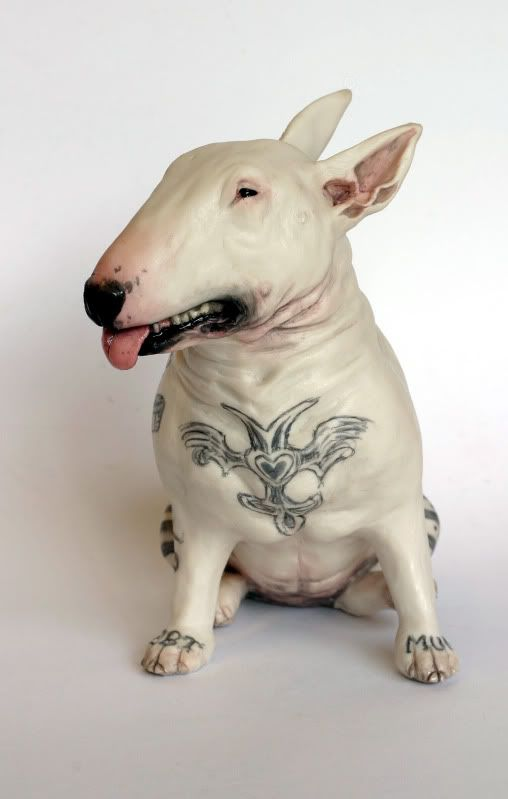 Details about english bull terrier skull tattoo chapman for English terrier