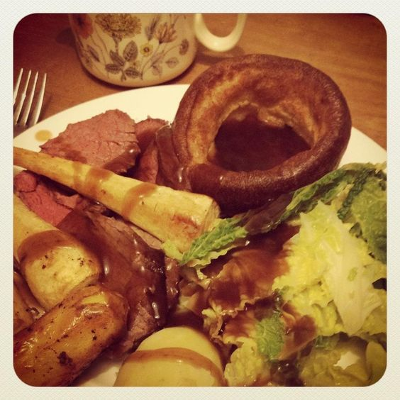 Roast beef & Yorkshire Puds.