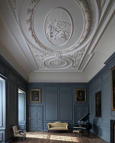Ornate Pattern Ceiling Interior Ideas Crown Molding House Paint Interior Build A Closet Best Interior Paint