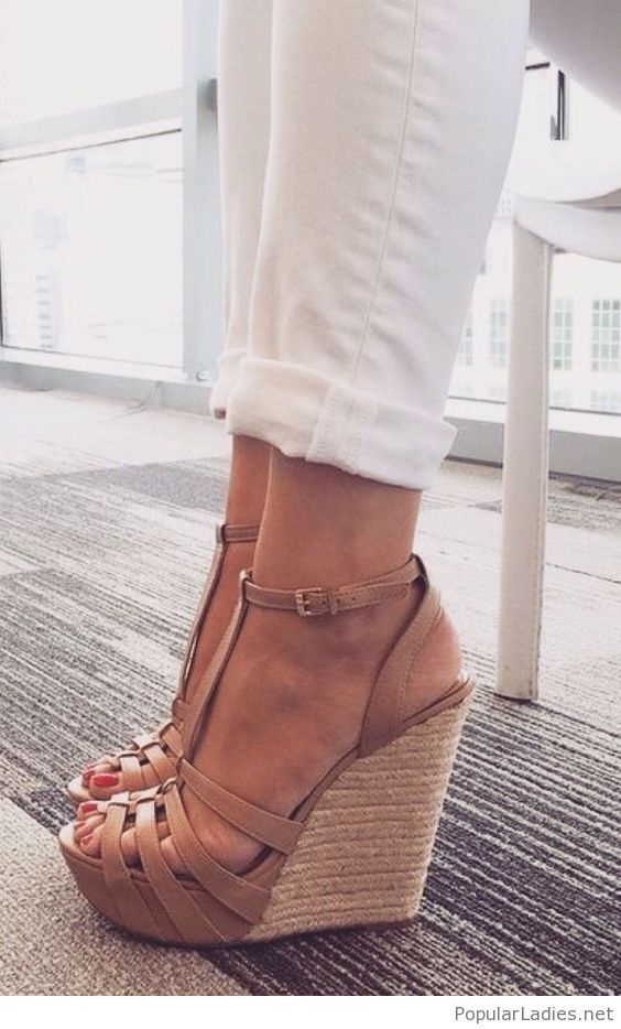 Amazing brown wedges design