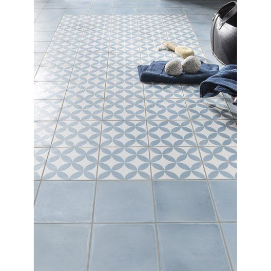 Carreau de ciment int rieur premium bleu baltique 20 x for Carrelage petit carreau