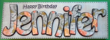 Card Gallery - Large DL Birthday JENNIFER Roses Card & 3D decoupage