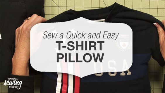 Sew a Quick and Easy T-Shirt Pillow | National Sewing Circle