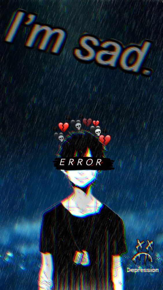 Gambar Keren Anime Sedih Error