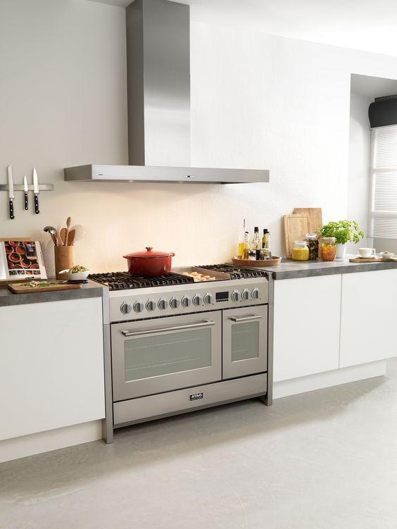 Fornuis met Teppan Yaki en dubbele oven (FG1211DA).