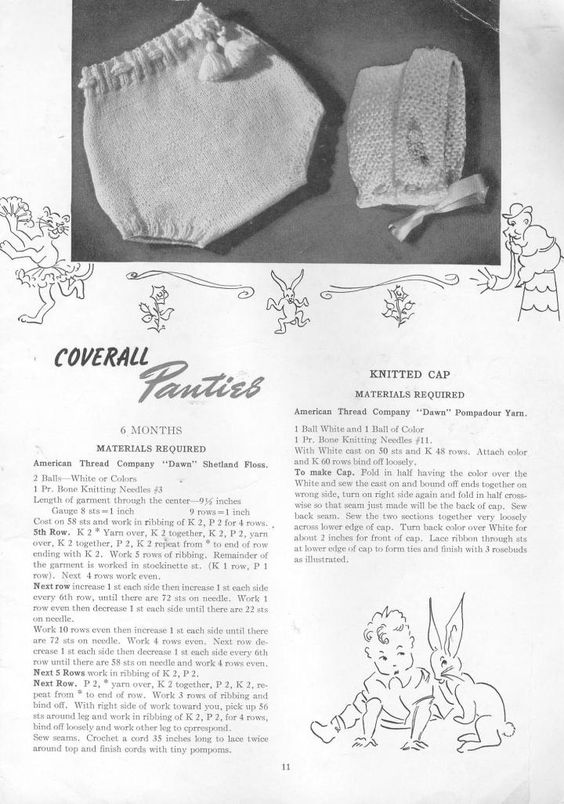 Vintage Knitting Patterns Babies | knitted hats | Pinterest ...