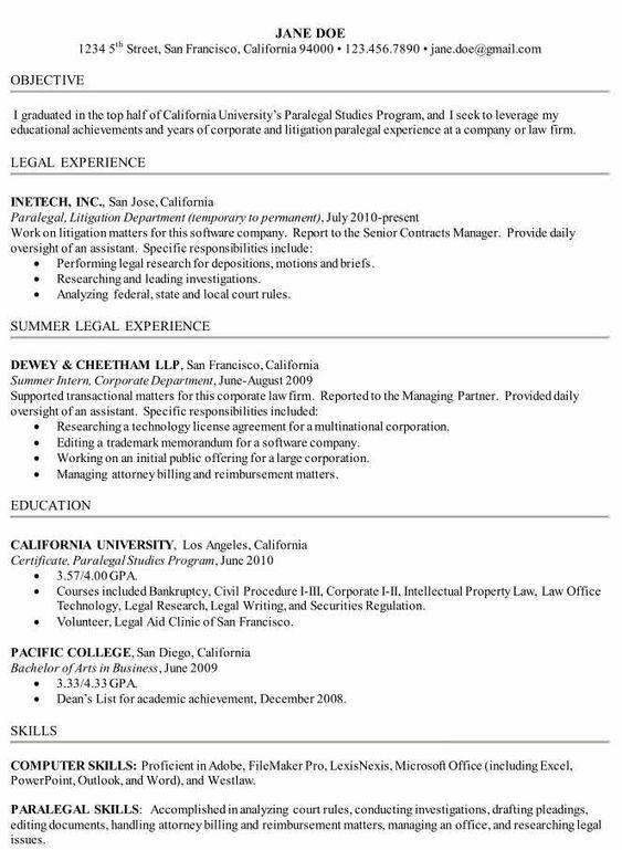 Legal Resume samples   VisualCV resume samples database Capterra Blog Attorney Resume paralegal cover letter example clparalegal legal paralegal  cover lawyer resume format experienced attorney resume