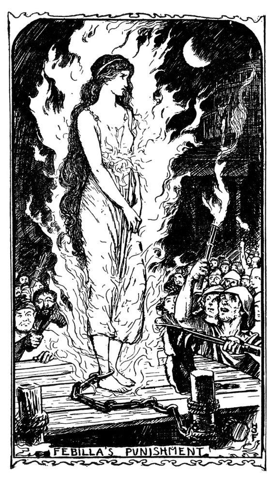 Virgilius the Sorcerer. H.J. Ford. The Violet Fairy Book, Andrew Lang