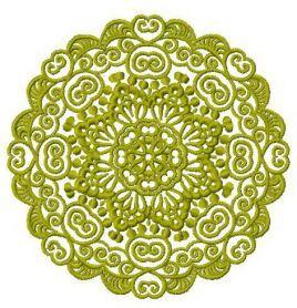 Lace doily 11 machine embroidery design. Machine embroidery design. www.embroideres.com
