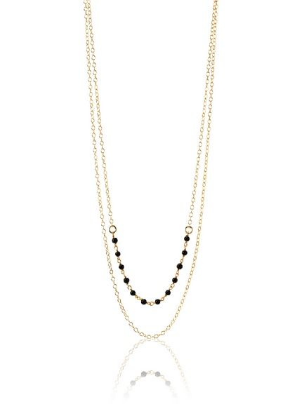 Gorjana Onyx Stevenson Necklace, Gold at MYHABIT