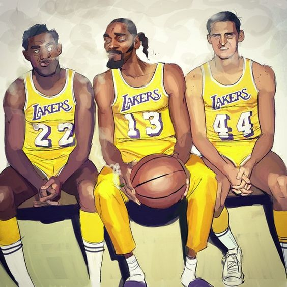 Elgin Baylor x Snoop Dogg x Jerry West Illustration
