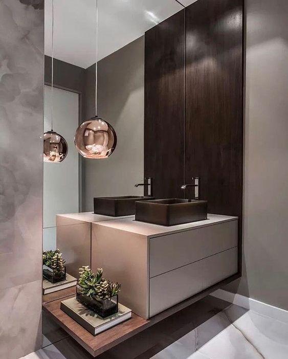 Banheiro/Lavabo deslumbrante! Lá no #story tem➕ #dicas para banheiro pequenos! | vi