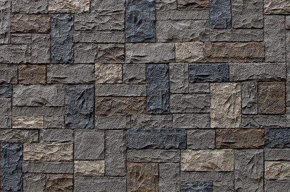 "Faux Stone Siding - Castle Rock - Dover Gray / Panel 43 1/4""x15 1/4""x1 1/4"""