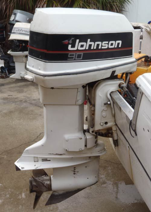 90 hp Johnson Outboard   Evinrude Johnson Outboards