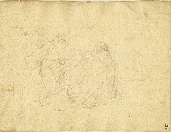 Francesco Solimena, Matita nera su carta, Figure - master-drawings.com