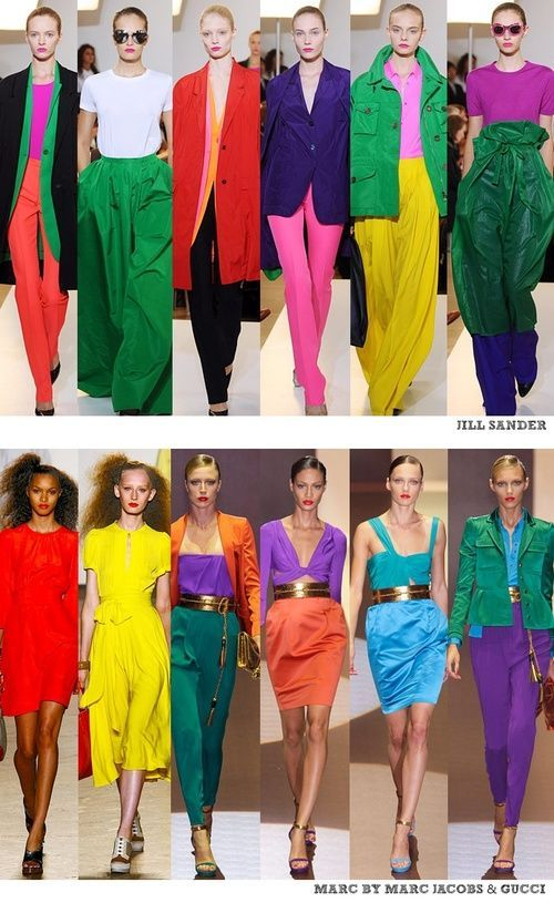 Jill Sander Marc By Marc Jacobs And Gucci Do Color Blocking Dress Women Dressf Colour Combinations Fashion Colour Blocking Fashion Color Blocking Outfits