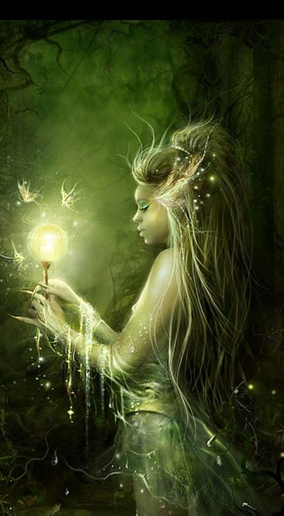 Fairy Art ... She is a friend of the fire flies and the brightest Light! ✨✨