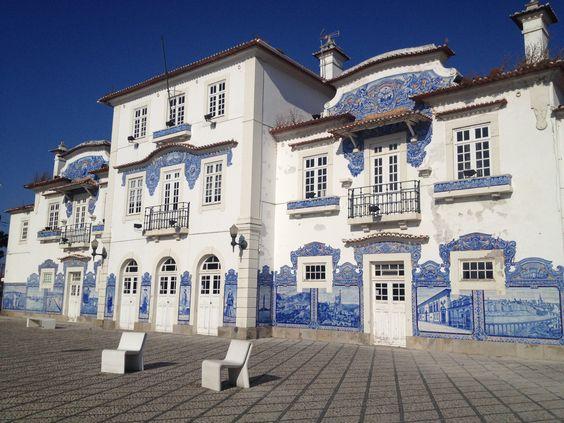 Estação de caminhos de ferro em Aveiro