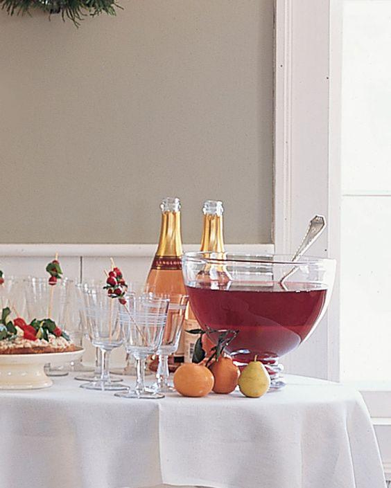 Festive Cranberry, Tangerine, and Pomegranate Punch - Martha Stewart Recipes