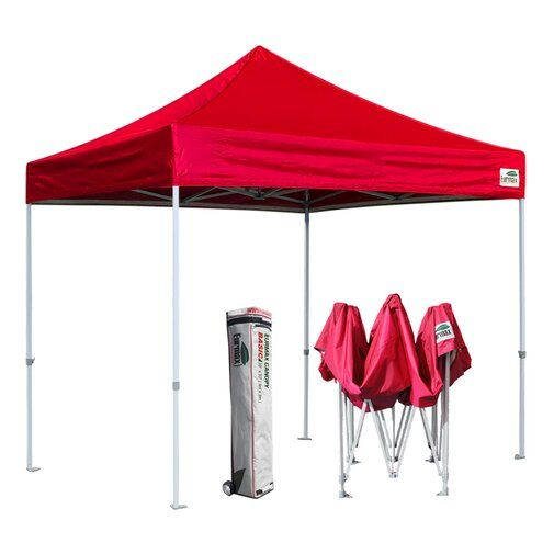 Commercial 10 Ft. W x 10 Ft. D Steel Pop Up Canopy