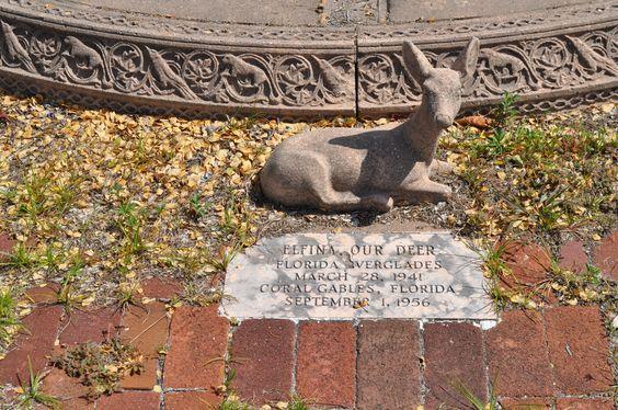 """""""Elfina,"""" beloved pet deer, buried with the family."""