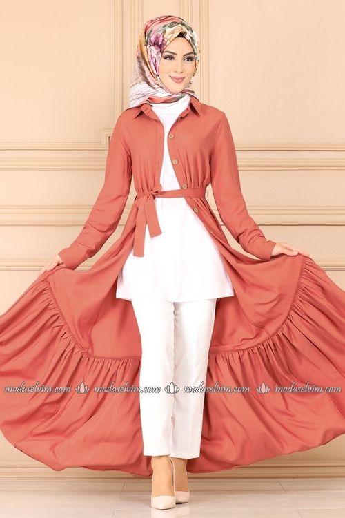 Modaselvim Elbise Etegi Kat Kat Elbise Ferace 1021bg354 Koyu Somon Elbise Elbise Modelleri Elbiseler