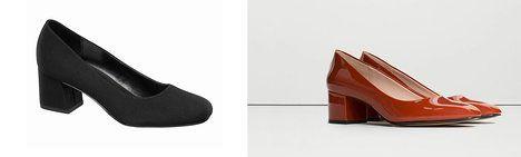 Blokové pohodlné podpatky jsou ideální pro celodenní nošení. Na foto (zleva)…