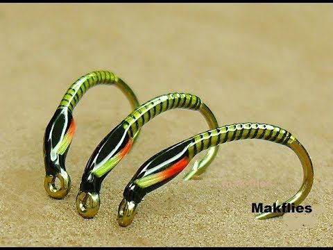 Fly Fishing Flies Green Holographic Black Buzzers Size 12 Set Of 3