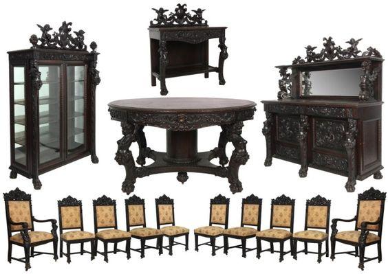 Horner oak dining room set