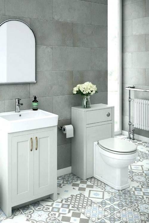 Grey Tile Bathroom Ideas Grey Tile Bathroom Example Of A Trendy Gray Tile Freestanding Bathtub Design In 2020 Gray Bathroom Decor Trendy Bathroom Grey Bathrooms