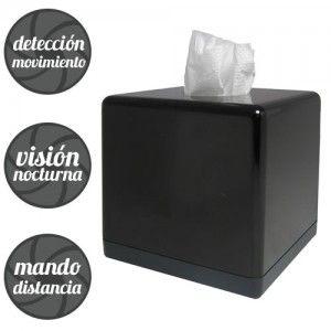 Caja de Pañuelos Espia, http://www.camaras-espias.com/camaras-para-situar-en-el-coche/495-caja-panuelos-9-horas-con-deteccion-de-movimiento-ccd.html#