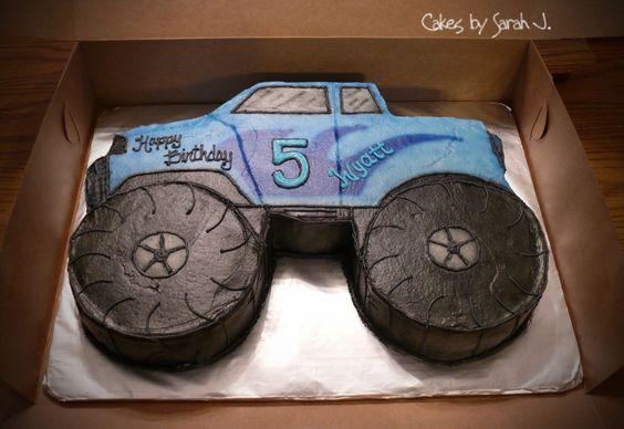 monster truck bday cakes   Monster Truck — Children's Birthday Cakes