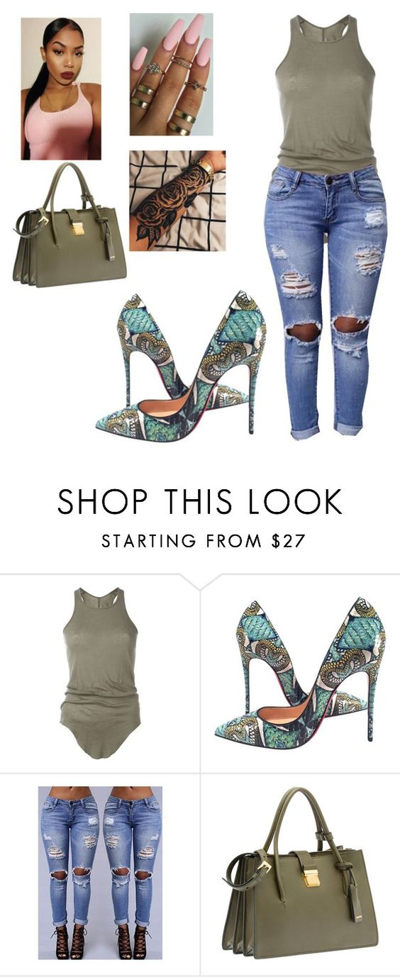 """""""Untitled #262"""" by ariondatrack ❤ liked on Polyvore featuring Rick Owens, Christian Louboutin and Miu Miu"""