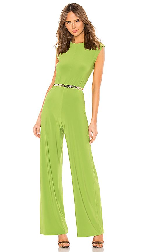 Norma Kamali X Revolve Sleeveless Jumpsuit In Green Size Xs Also In S In 2020 Sleeveless Jumpsuits Fashion Clothes Women Jumpsuit