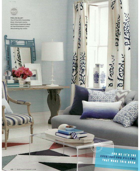 Lovely navy  grey living room Day spaces Pinterest Grau - wohnzimmer blau wei grau