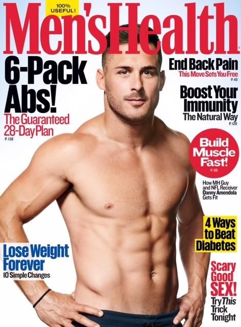 "Danny Amendola will be on the cover of October's issue of ""Men's Health."""