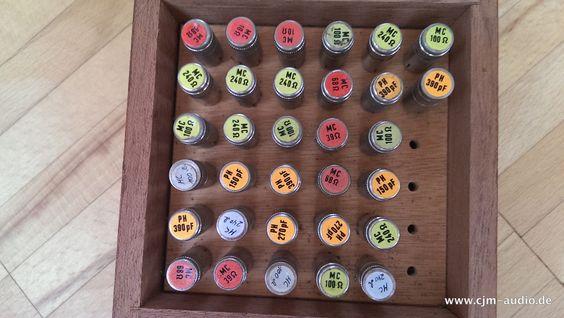 Burmester Phono Widerstände/ Loads/ Capacitors  www.cjm-audio.de