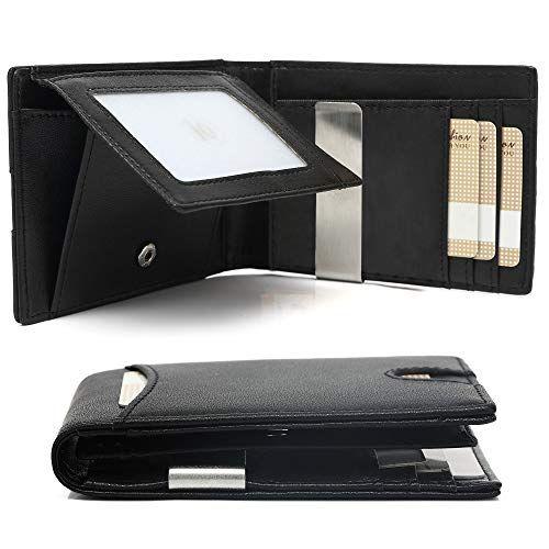 Herren Kreditkartenetui RFID Schutz Mini Leder Geldbörse Geldbeutel Slim Wallet.