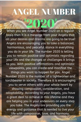 Angel Number 2020 And It's Meaning: It IS Bringing You Immense Success.When you see Angel Number 2020 on a regular basis then it is a message from your Angels that all your desires and dreams are going to be true! Angels are encouraging you to take a balanced, harmonious, and peaceful stance in everything you do in your life.