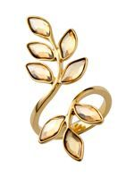 Look what I found at House of Fraser .. A brilliant leaf style golden ring #Houseoffraser