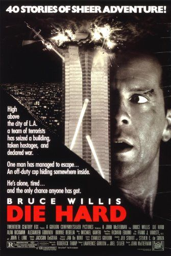 """Die Hard"" (1988) directed by John McTiernan, starring  Bruce Willis, Bonnie Bedelia"