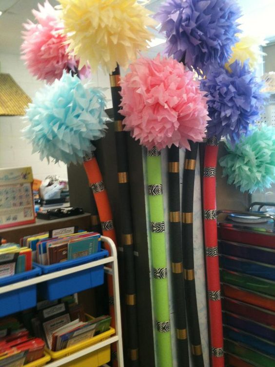 Truffula Trees Pool Noodles And Tissue Paper On Pinterest