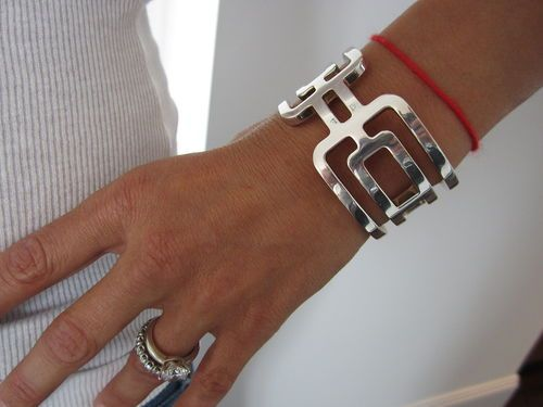 VINTAGE HERMES PARIS RUNWAY IMPOSSIBLE TO FIND STERLING SILVER CUFF BRACELET