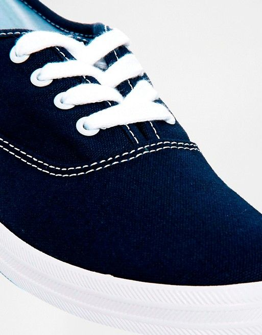 Keds Champion Canvas Navy Plimsoll Shoes at asos.com | @giftryapp
